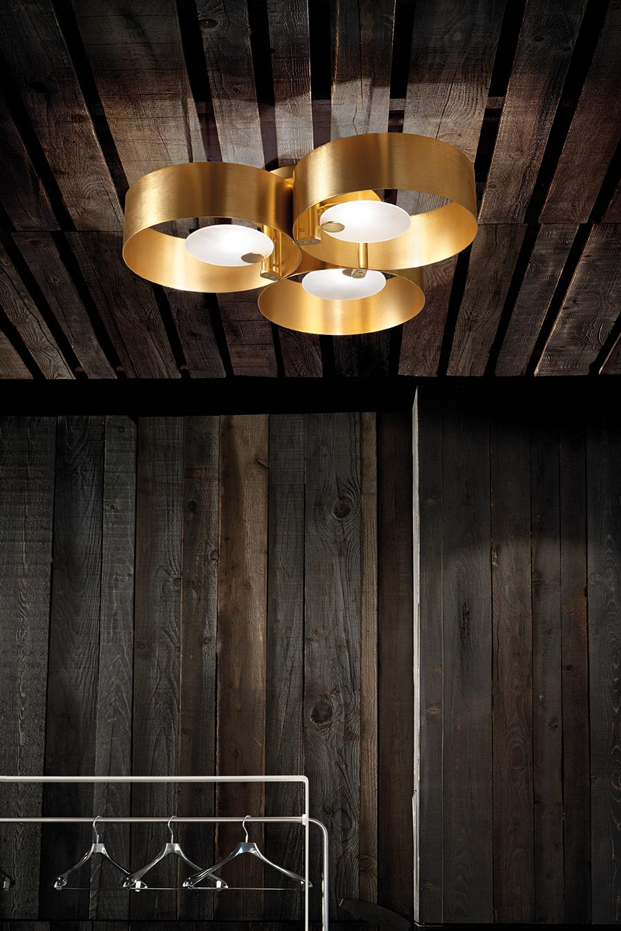 Contemporary Gold Ceiling Light 3 Lights Sound Collection Masiero Murano And Crystal Chandeliers Lamps And Wall Lights Ref 20010057