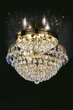 Crystal waterfall ceiling light. Masiero.