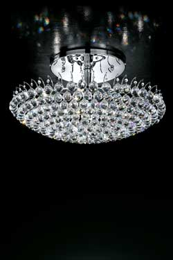 Round crystal ceiling light. Masiero.