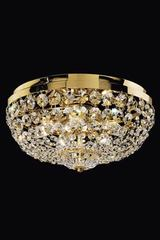Round crystal and gold-plated ceiling light . Masiero.