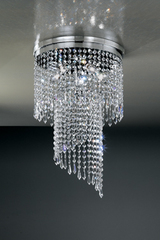Small 4-light cascade ceiling light. Masiero.