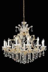 12-light gold-plated-metal and Bohemian crystal chandelier . Masiero.