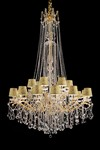 Chandelier 18 lights in gold metal. Masiero.