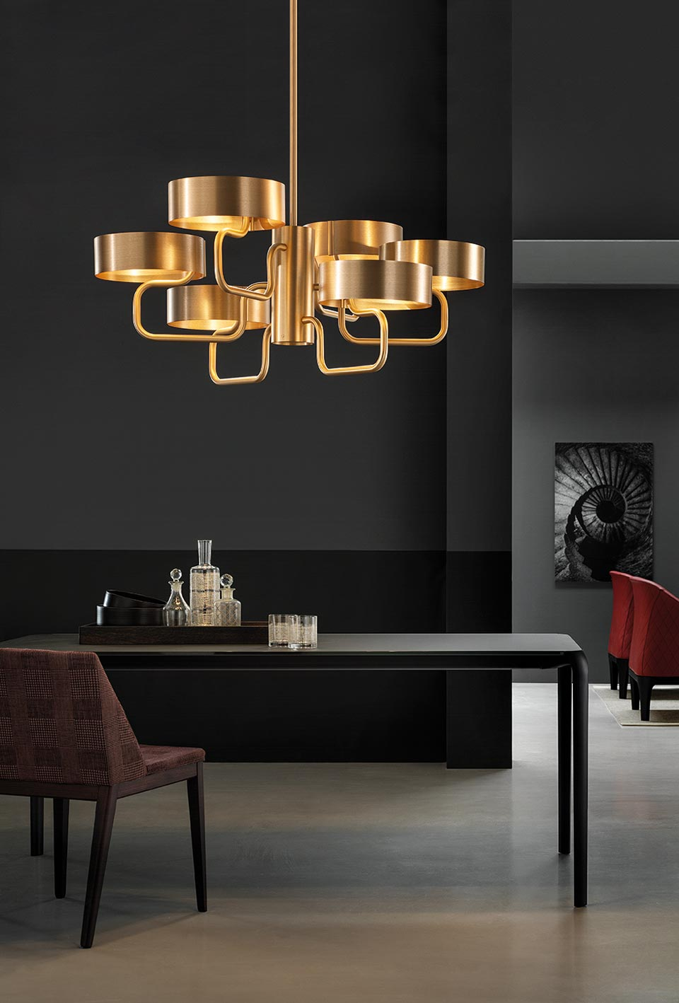 Contemporary 6 Light Chandelier Sound