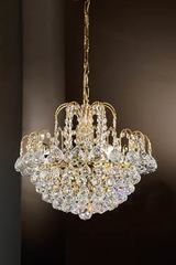 Crystal waterfall chandelier. Masiero.