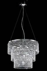 Large triple-cylinder crystal chandelier. Masiero.