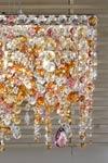 Ottocento multicoloured rectangular chandelier. Masiero.