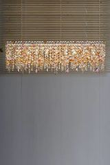 Ottocento multicoloured rectangular chandelier. Masiero.