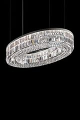 Oval crystal chandelier 12 lights. Masiero.