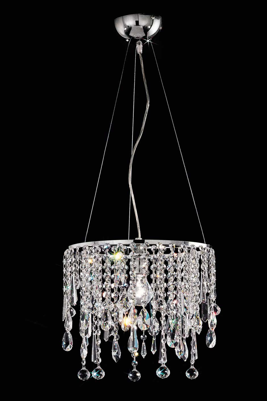 Small Cylindrical Crystal Ceiling Light