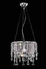 Small cylindrical crystal ceiling light. Masiero.