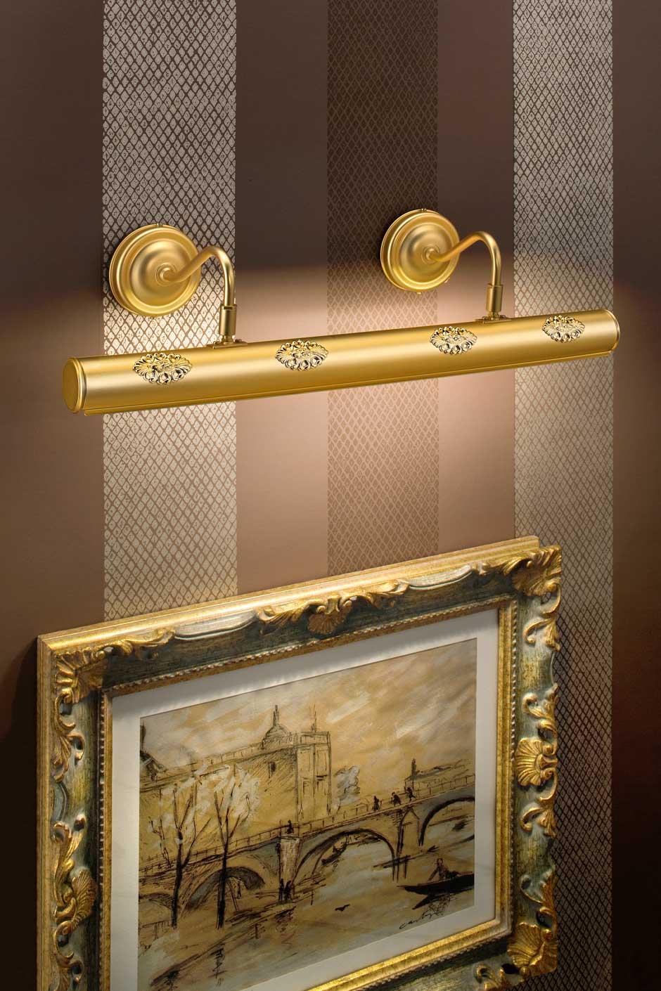 grande applique pour tableau cylindrique dor e mat masiero sp cialiste du lustre en cristal. Black Bedroom Furniture Sets. Home Design Ideas
