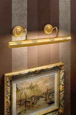 Grande applique pour tableau cylindrique dorée mat. Masiero.