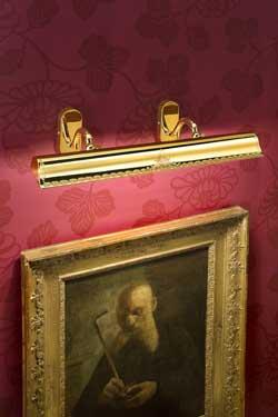 Grande applique pour tableau évasée dorée polie décoration classique. Masiero.