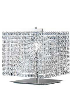Lampe cristal chromée cube. Masiero.