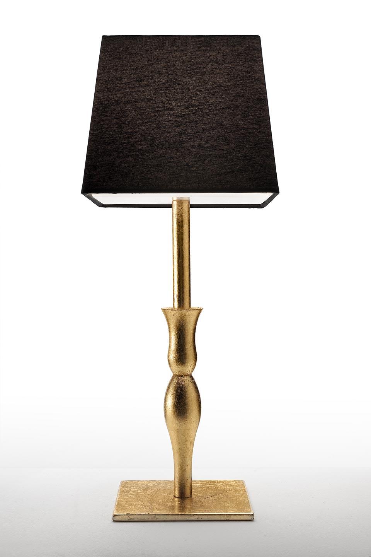 Lampe décorée à la feuille d