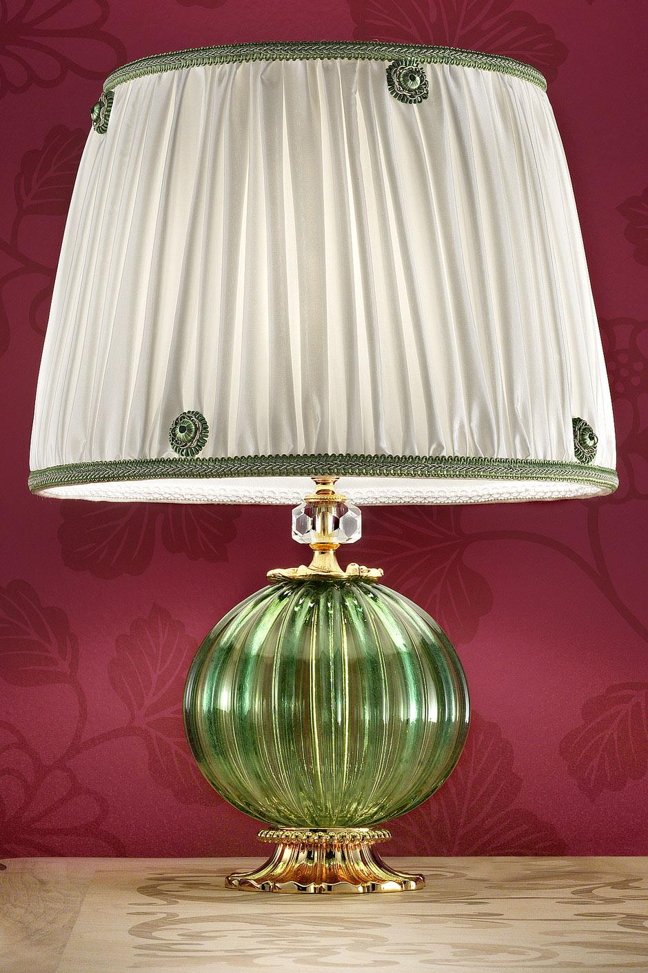 Lampe Vert Clair En Jour Abat À Murano Soie De Verre Cannelé Plissé Poser Taffetas xrCBedo