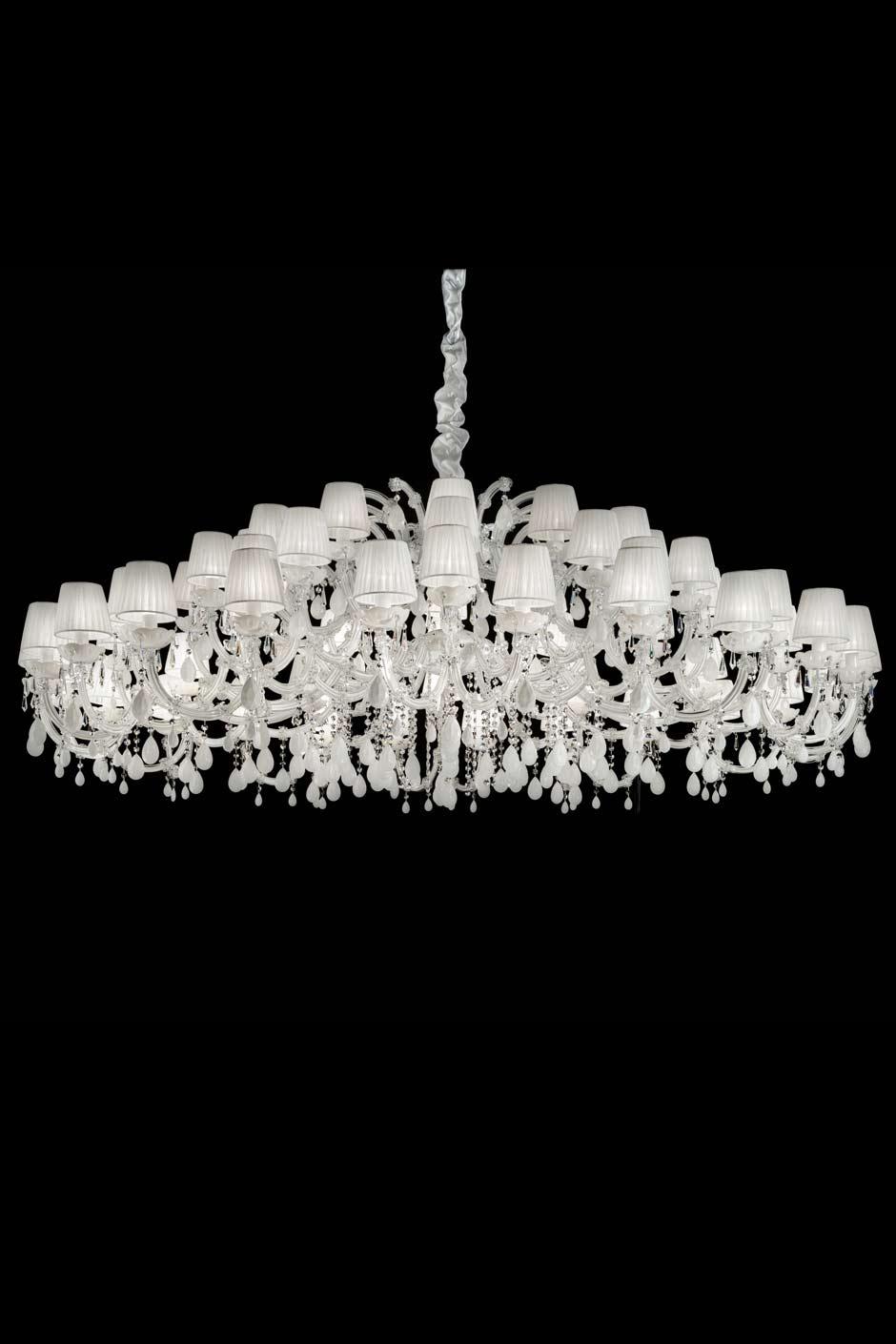 Lustre blanc - Grand lustre pas cher ...