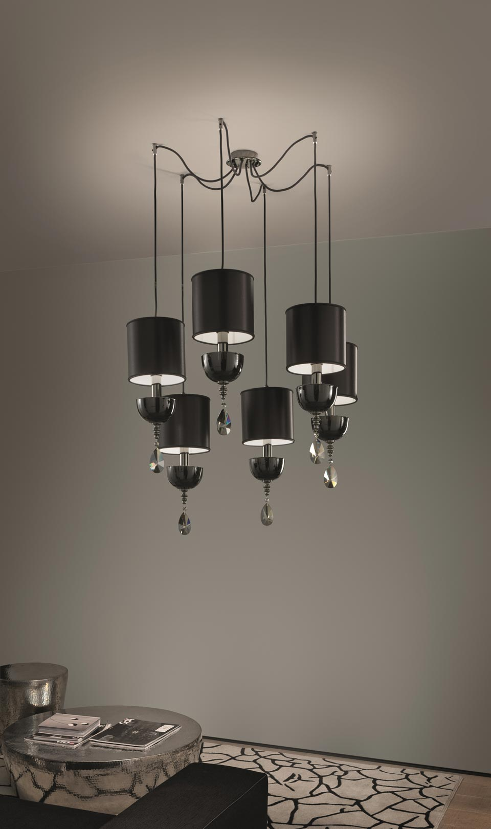 Contemporary Pendant Light 6 Lights