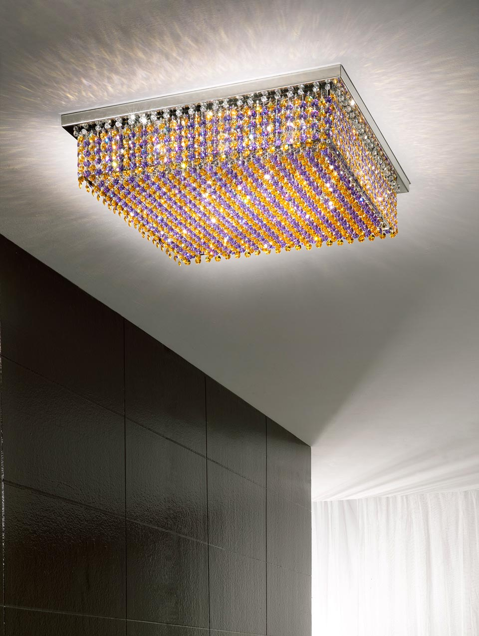 plafonnier bleu et jaune aurea masiero sp cialiste du. Black Bedroom Furniture Sets. Home Design Ideas