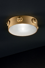Recessed satin brass spot. Masiero.