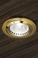 Round gold-plated recessed spotlight. Masiero.