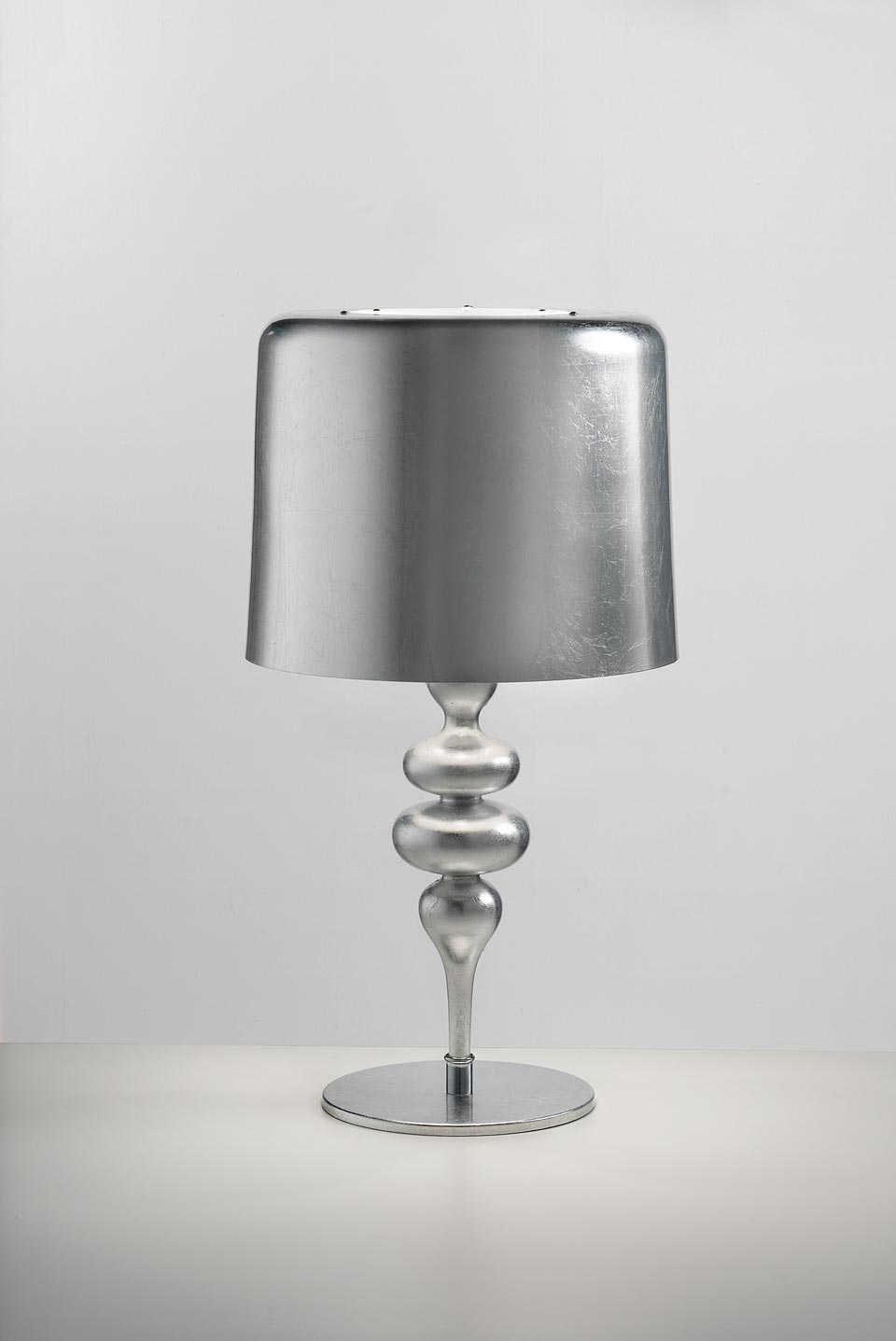 Silver Leaf Table Lamp White Interior