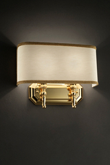 Gold and ivory wall lamp 2 lights. Masiero.