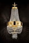 Golden hot air balloon sconce. Masiero.