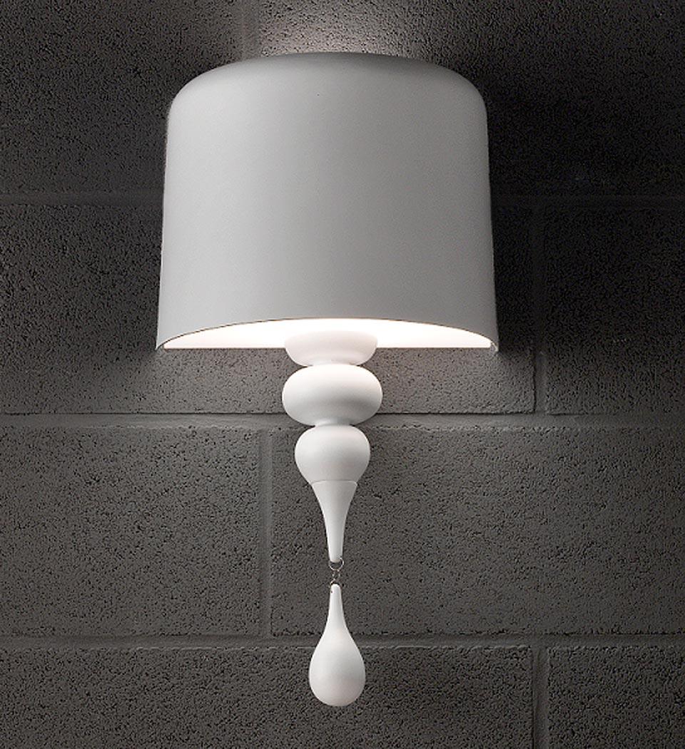 Half painted aluminum lampshade white interior and drop masiero half painted aluminum lampshade white interior and drop masiero mozeypictures Images