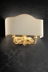 Wall lamp 2 lights gold and ivory. Masiero.