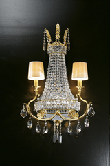 Large crystal balloon wall lamp. Masiero.
