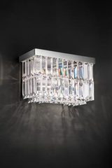 2-light rectangular crystal sconce. Masiero.
