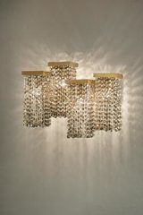 Skyline Large smoked crystal wall light. Masiero.