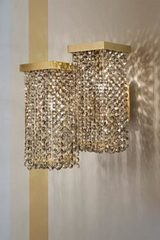Skyline Small smoked crystal wall light. Masiero.