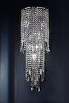 Small crystal cascade wall lamp 8 lights. Masiero.