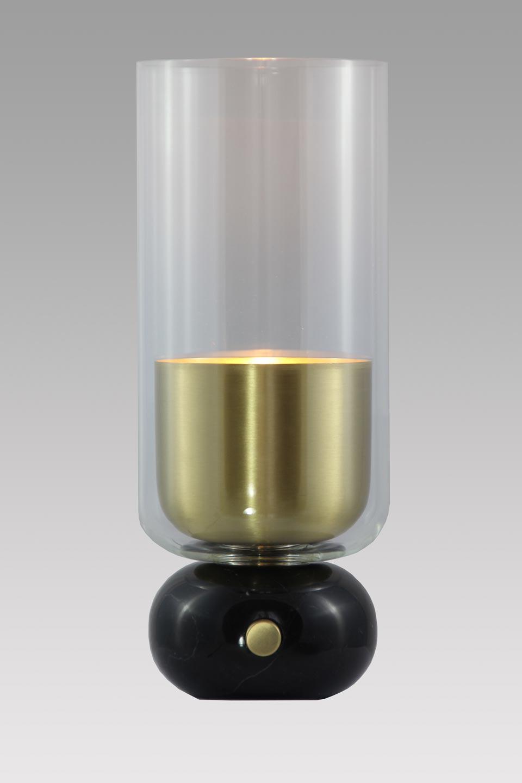 Andromede Lampe En Marbre Noir Et Laiton Satine Matlight Lampe