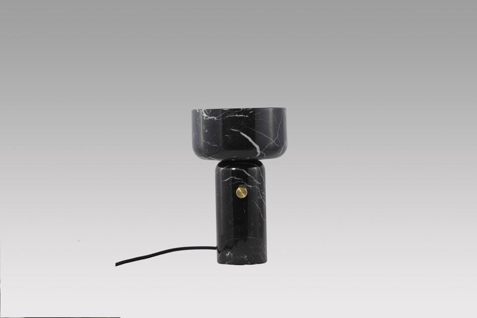 Gran Coppa Lampe En Marbre Noir Matlight Lampe De Table Ref
