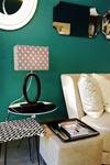 Lampe de table en marbre noir forme ovale. Matlight.
