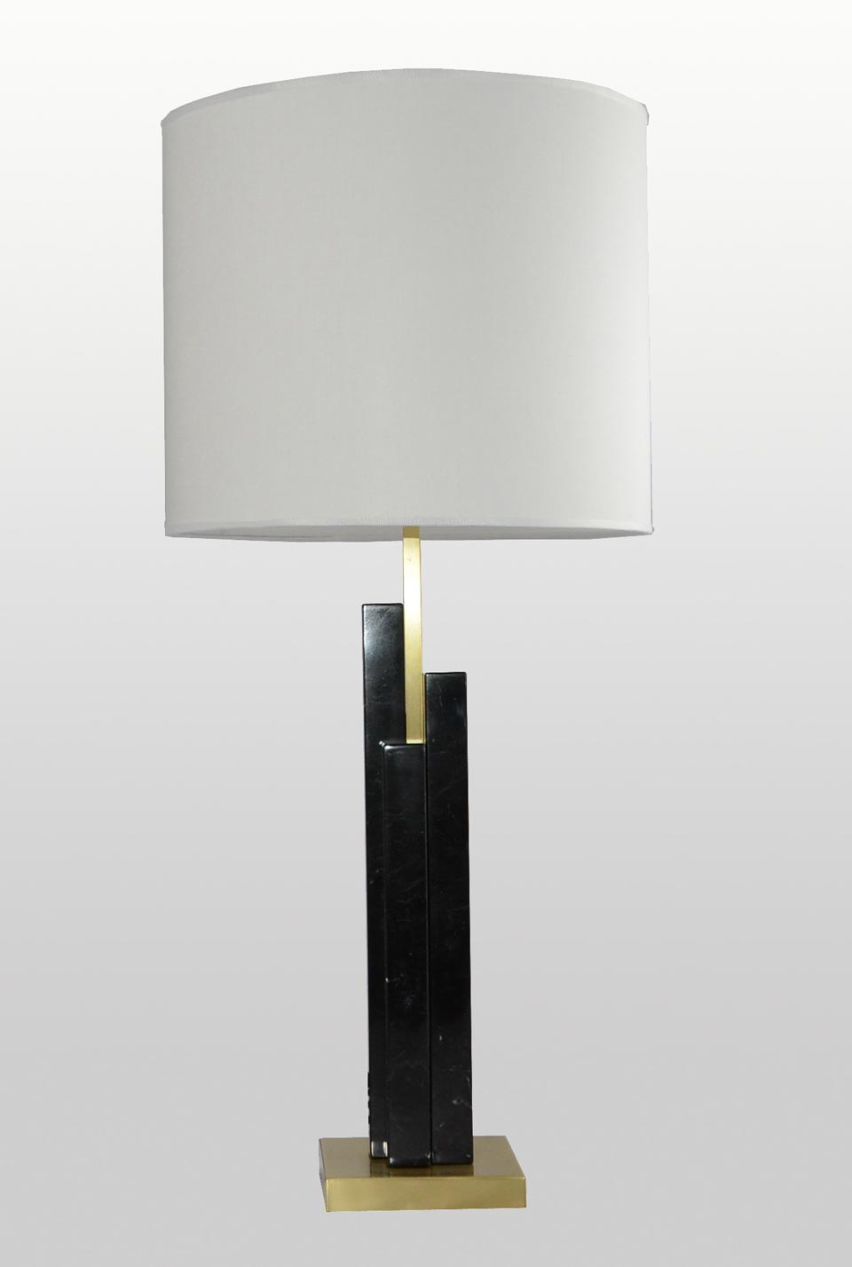 Lampe de table en marbre noir Skyline. Matlight.