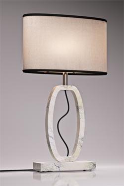lampe d co en marbre blanc grand mod le matlight lampe de table r f 15070115. Black Bedroom Furniture Sets. Home Design Ideas