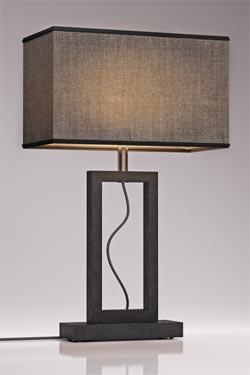 Lampe en marbre gris Contemporary moyen modèle. Matlight.