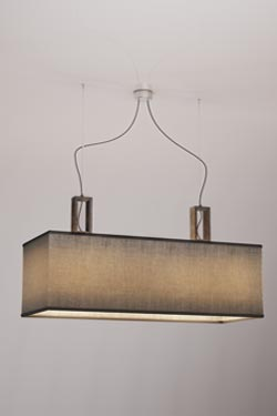 Contemporary gray double pendant in marble. Matlight.