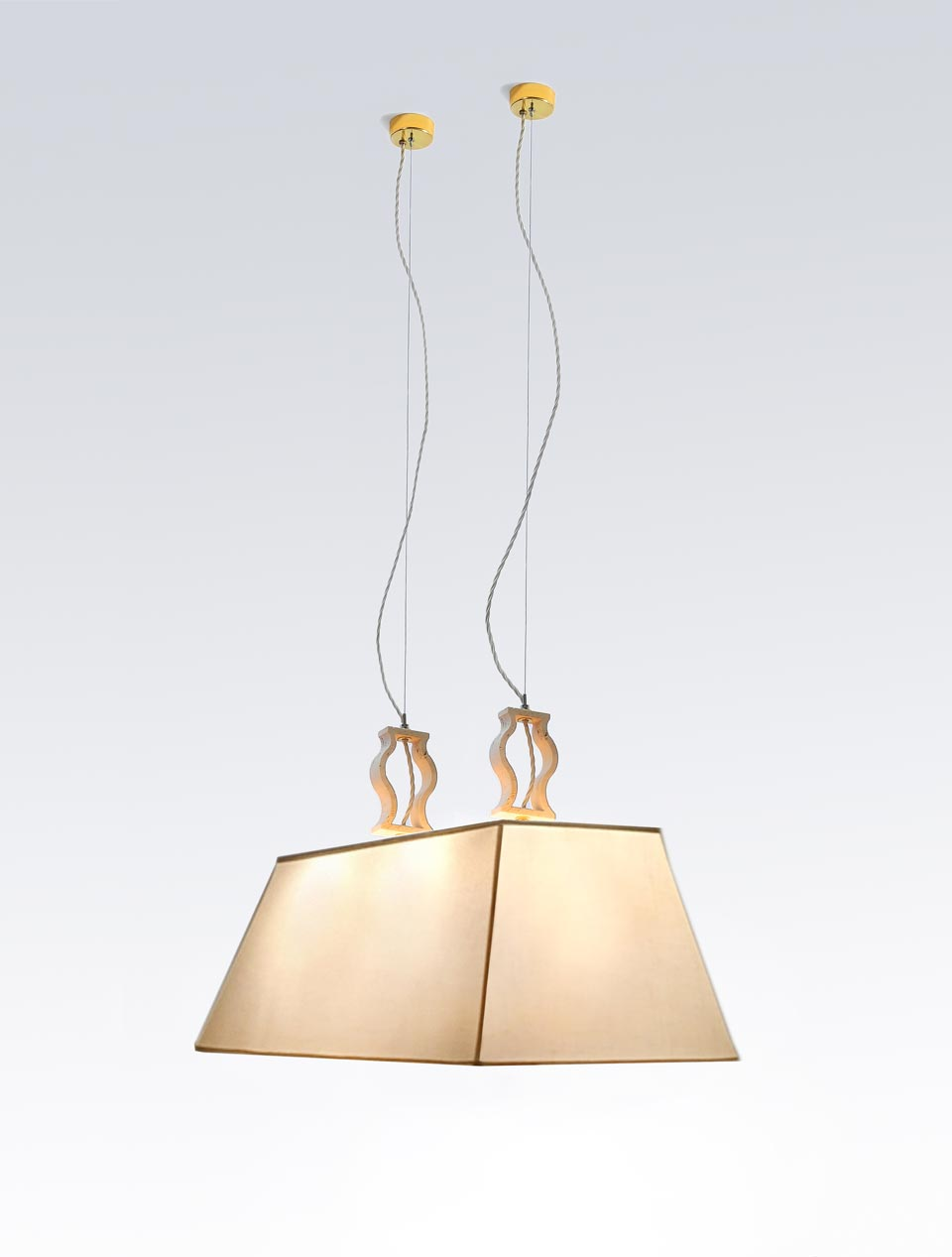 Double marble pendant. Matlight.