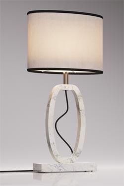 Petite lampe Déco en marbre de Carrare . Matlight.