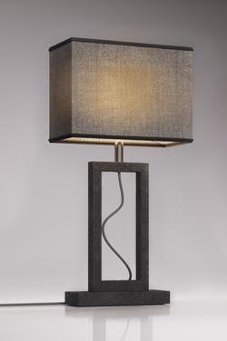 Petite lampe en marbre gris Contemporary. Matlight.