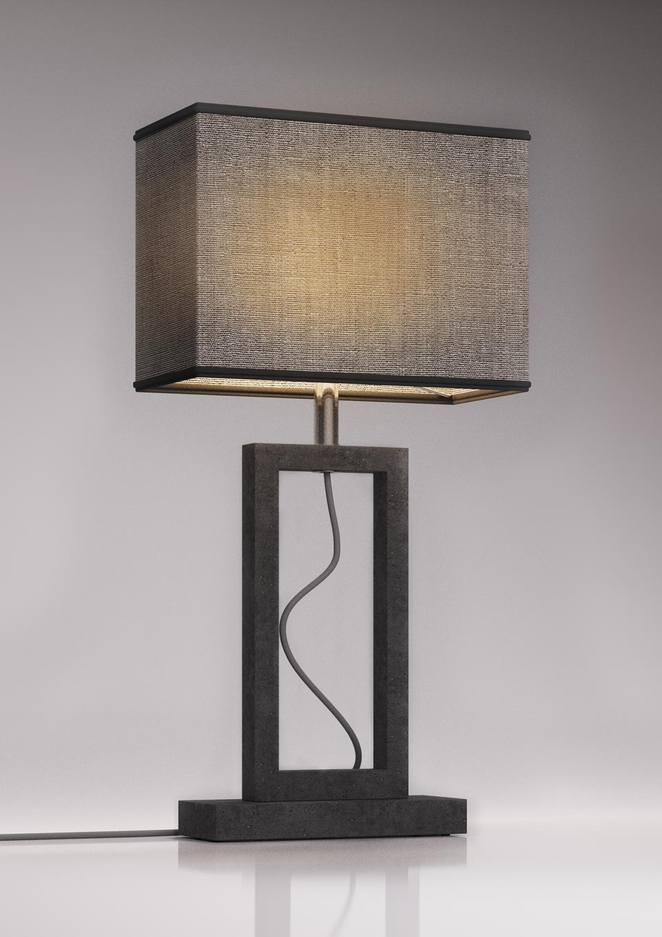 Contemporary gray marble lamp small model. Matlight.