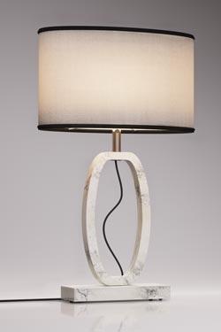 Deco lamp medium model in white marble. Matlight.