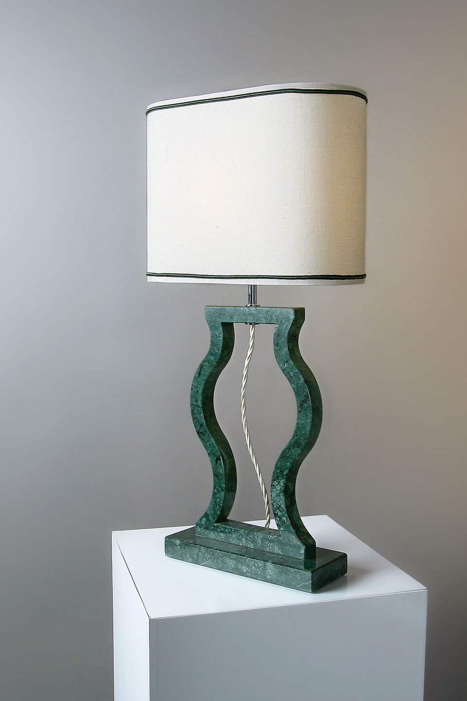 Guatemala green marble lamp Classic collection. Matlight.