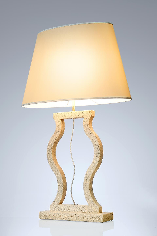 Large Classic Marble Lamp. Matlight.